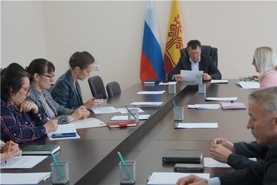 Планерка при главе администрации Калининского района города Чебоксары