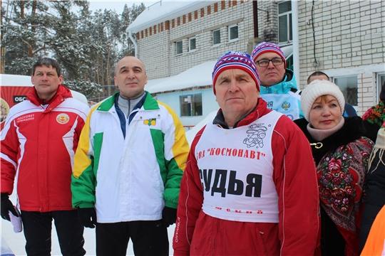 Сегодня в Канашском районе прошли соревнования, в рамках ХХХIХ открытой Всероссийской массовой лыжной гонки «Лыжня России -2021»