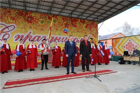 Первомайская демонстрация в селе Комсомольское