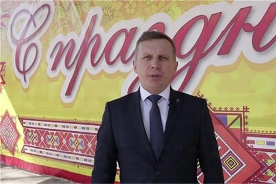 Видеопоздравление главы администрации Комсомольского района А.Н. Осипова с Праздником Весны и Труда