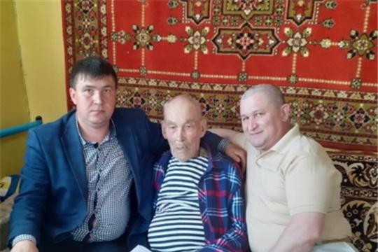 90-летний юбилей отметил житель села Новочелны-Сюрбеево ветеран тыла Витальев Николай Петрович