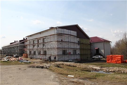 Ход ремонта здания Новоатайской общеобразовательной школы