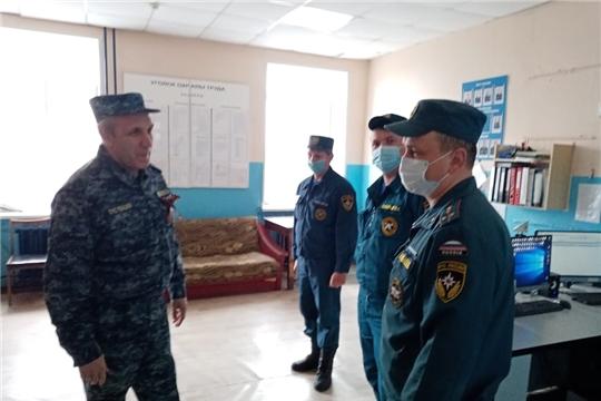 Рабочий визит председателя ГКЧС Чувашии Олега Яковлева в Красночетайский район