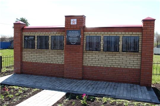 Открытие памятника участникам в Великой Отечественной войне в деревне Хорабыр