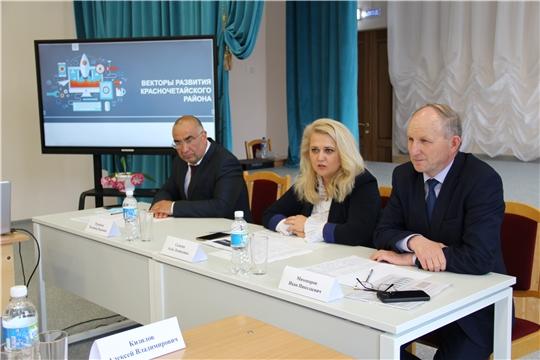 Министр образования и молодежной политики Чувашии Алла Салаева посетила Красночетайский район