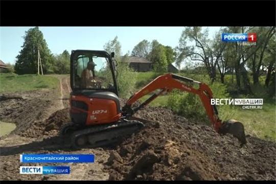 В районах Чувашии полным ходом идут работы по развитию инфраструктуры