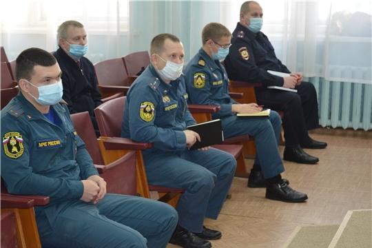 Заседание комиссии по чрезвычайным ситуациями обеспечения пожарной безопасности Мариинско-Посадского района