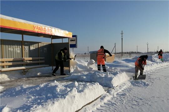 Зимнее содержание дорог в Мариинско-Посадском районе