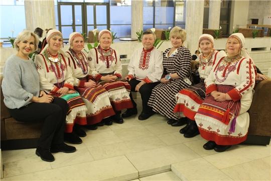 Делегация Мариинско-Посадского района на театрализованном концертном представлении «Посвящается строителям рубежей…»