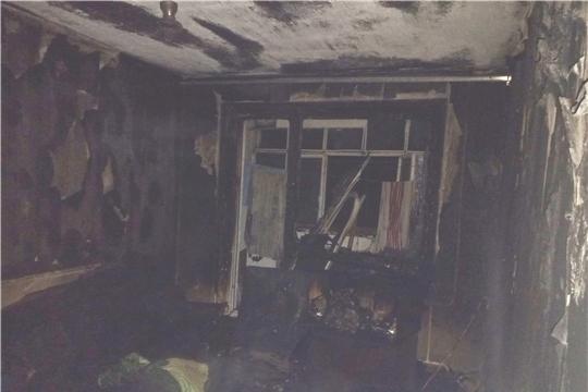 Пожар в городе Мариинский Посад