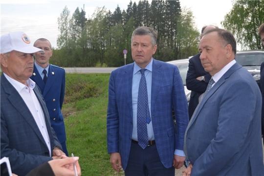 Главный федеральный инспектор и министр транспорта Чувашии посетили Мариинско-Посадский район