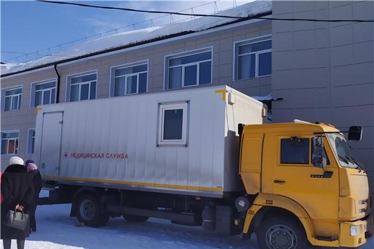 Сотрудниц завода имени В.И. Чапаева обследовали на передвижном маммографе