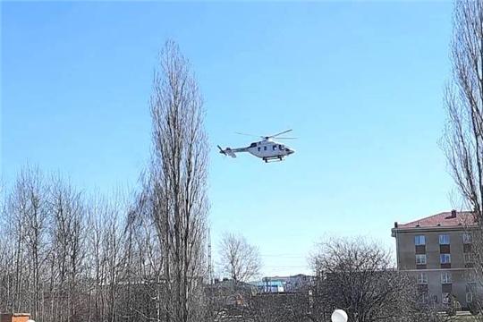 Вертолет доставил пациентку из Шумерли в Республиканский кардиодиспансер