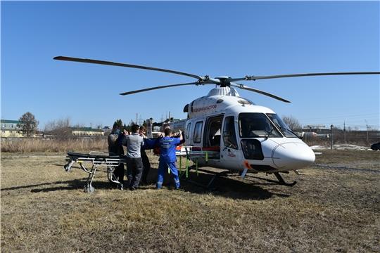 Воздушная «скорая» впервые доставила пациентку из Чувашии в федеральную клинику