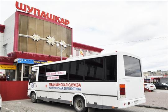 Вакцинация горожан против COVID-19 у универмага «Шупашкар» продолжится и в праздничные дни