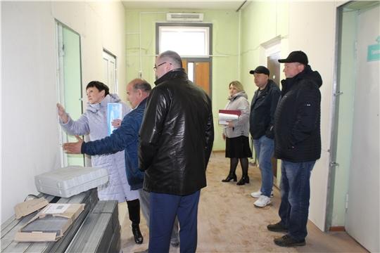 В Алатырской больнице идет ремонт поликлиники