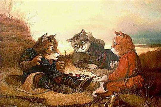Коты в искусстве как символ счастья