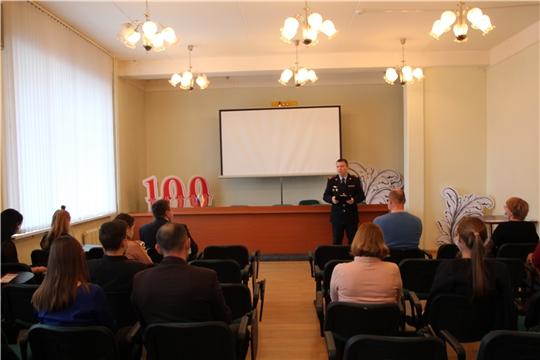 Встреча специалистов Минфина Чувашии с представителем МВД по Чувашской Республике