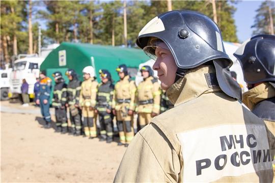 Олег Николаев принял участие в командно-штабных учениях МЧС России по Чувашской Республике