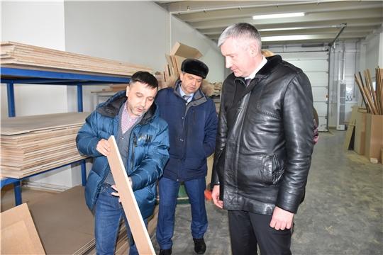 Министр промышленности Чувашии Евгений Герасимов посетил предприятия Моргаушского района