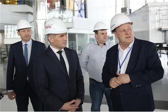 Глава Чувашии Олег Николаев ознакомился с производством ЗАО «Чебоксарское предприятие «Сеспель»