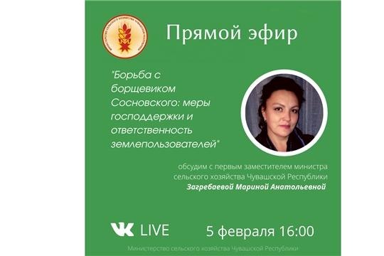 """5 февраля состоится """"прямая линия"""" по вопросам реализации программы борьбы с борщевиком"""
