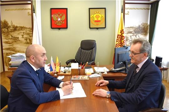 Сергей Артамонов встретился с председателем Чувашрессовпрофа Анатолием Коршуновым