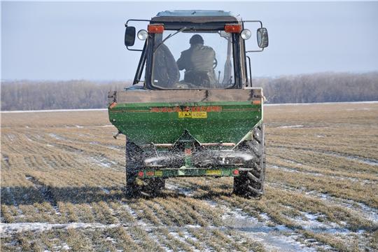 Проведение ранней весенней подкормки посевов – основная задача на данном этапе