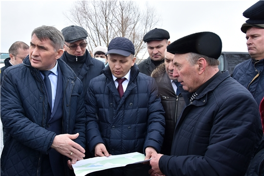 Глава Чувашии ОлегНиколаев посетилКомсомольский район