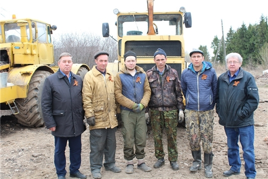 В преддверии Дня Победы аграриям Цивильского района вручили «Георгиевские ленты»