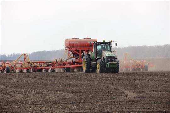 В хозяйствах Шемуршинского и Яльчикского районов плановые показатели сева выполнены