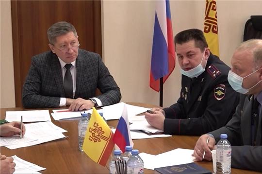 Заседание рабочей группы Правительственной комиссии по обеспечению безопасности дорожного движения в Чувашской Республике (на чувашском языке)