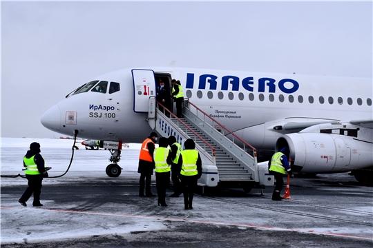 Международный аэропорт Чебоксары принял первый рейс из Нового Уренгоя