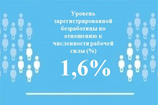 Уровень регистрируемой безработицы в Чувашской Республике составил 1,6 %