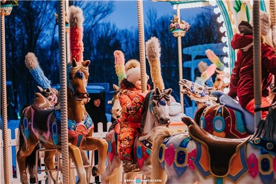 Более 200 000 человек посетили новогодние площадки в Чебоксарах