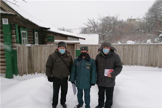 В жилом секторе г. Чебоксары организован День профилактики по пожарной безопасности