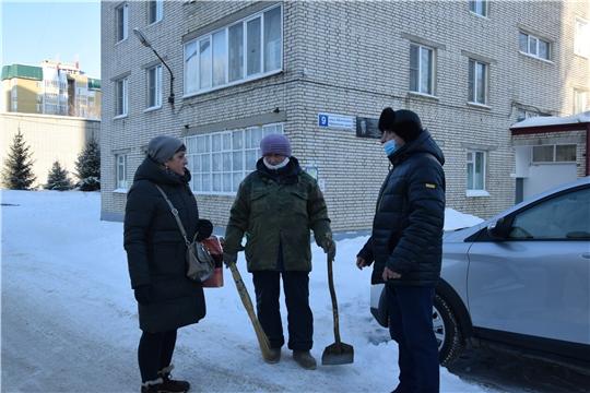 В северо-западной части столицы Чувашии проверили зимнее содержание территорий