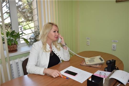 Прямая линия с и.о. главы администрации Московского района г. Чебоксары Еленой Романовой
