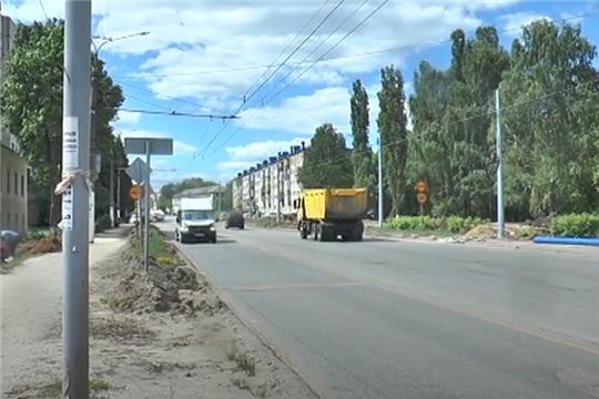 Ремонтные работы по улице Гражданская