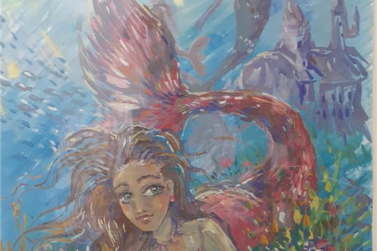 В  Детской художественной проходит выставка работ учащихся, посвященная Всемирному дню воды