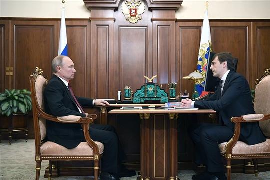 Владимир Путин встретился с министром просвещения РФ Сергеем Кравцовым