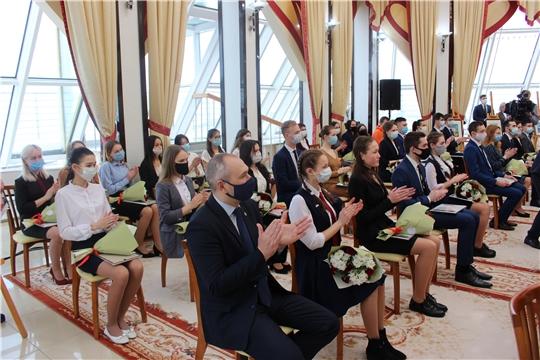 Вручение свидетельств стипендиатам Главы Чувашской Республики