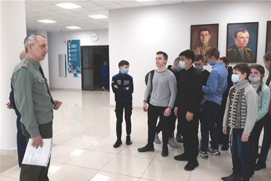 В Чувашском кадетском корпусе прошла экскурсия для детей-сирот