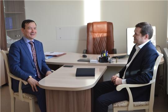 Сергей Романов провел рабочую встречу с Председателем Ассоциации юристов Чувашской Республики Иваном Андреевым