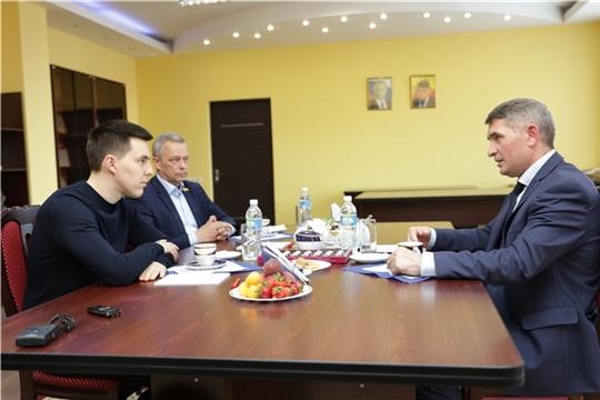 Олег Николаев встретился с Георгием Соловьевым - уроженцем Чувашии и одним из перспективных россиян до 30 лет по версии журнала Forbes