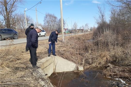 В Порецком районе проведен осмотр водопропускных труб