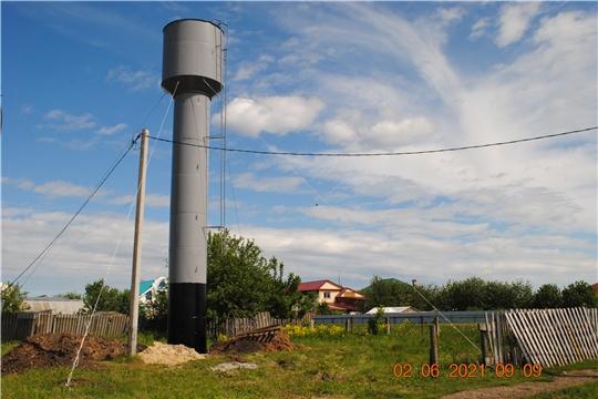 В с. Шемурша идут работы по ремонту водонапорной башни