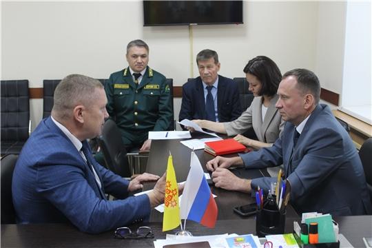 Шемуршинский район с рабочим визитом посетил исполняющий обязанности министра природных ресурсов и экологии Чувашской Республики