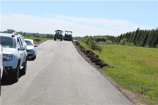 Шумерлинский  район с рабочим визитом посетил министр транспорта и дорожного хозяйства Чувашской Республики Владимир Осипов