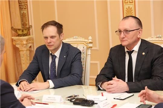 Встреча Главы Чувашии с замминистра спорта России Андреем Сельским